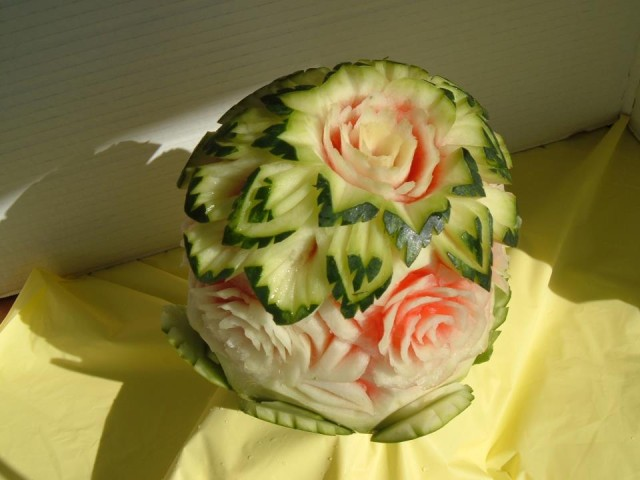 Watermelon Flower Centerpiece